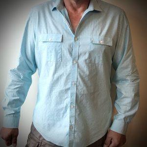 Calvin Klein Light Blue Button Down Shirt